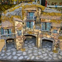 presepe napoletano con tre grotte